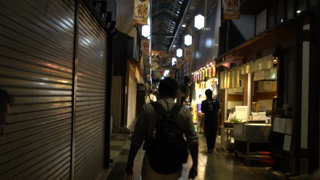 nishiki market in kyoto by night - pickled stock videos and b-roll footage