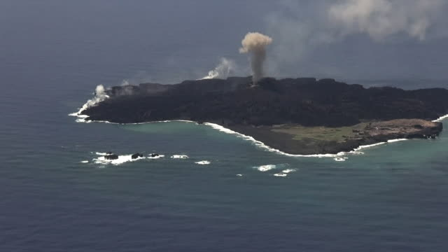 AS; WA; HA; Nishino-shima volcano, Bonin islands - filmed on May 18th 2014