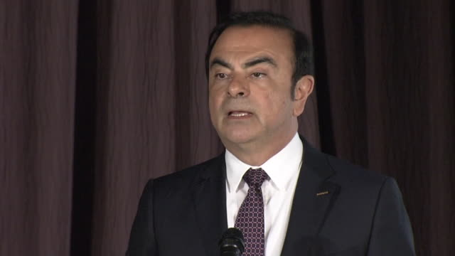 vidéos et rushes de nissan motor co president and ceo carlos ghosn speaking out during press conference in yokohama japan i am pleased to announce that nissan and... - ghosn