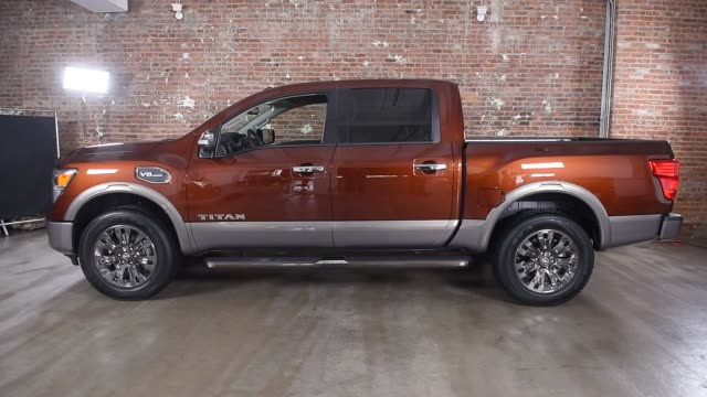 nissan titan sits in studio for a photo shoot before the auto show on march 20th, 2016 photographer: ron antonelli, bloomberg shots: close up shots... - titan moon stock videos & royalty-free footage
