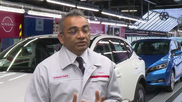 nissan to build car battery factory and new electric vehicles in sunderland; england: tyne and wear: sunderland: nissan: int ashani gupta interview... - power supply stock videos & royalty-free footage