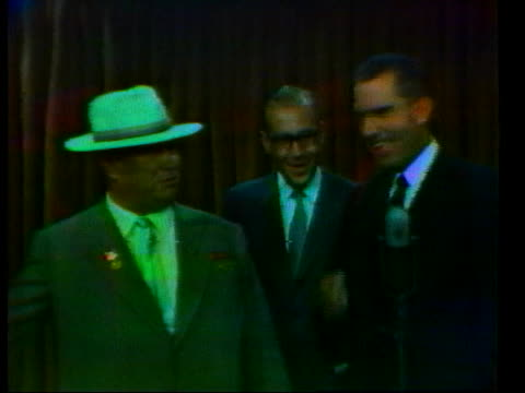 nixon speaks to nikita khrushchev about advancements in color television. - 1959 stock videos & royalty-free footage