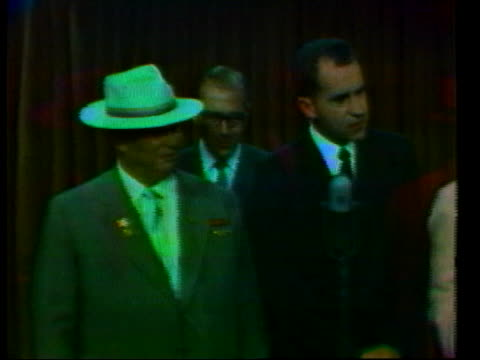 nixon speaks to nikita khrushchev about advancements in color television. - 1950 1959 stock videos & royalty-free footage