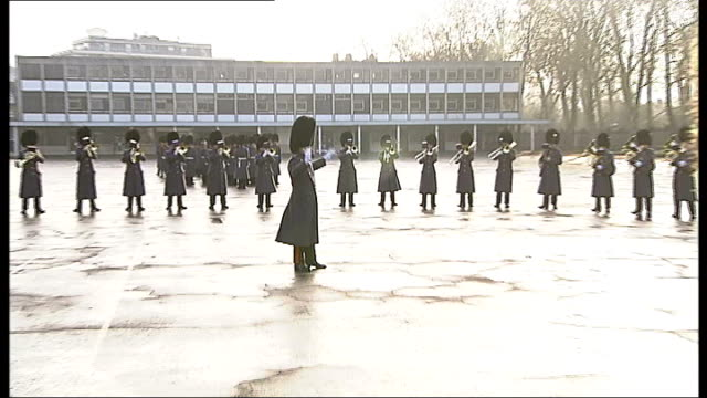 no 7 company coldstream guards depart chelsea barracks for the final time england london chelsea barracks ext military regimental band of number 7... - number 7 stock videos & royalty-free footage