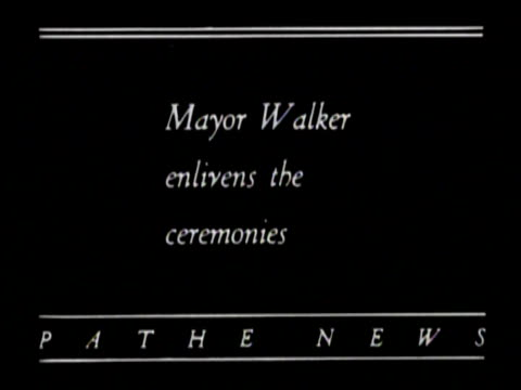 no audio/ mayor walker escorts amelia earhart carry flowers down some steps and makes a speech to the press / - 1928 stock videos & royalty-free footage
