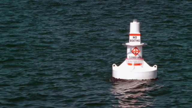 no boating buoy - buoy stock videos & royalty-free footage