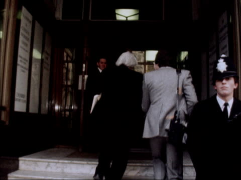 vídeos de stock, filmes e b-roll de 'no confidence' vote labour's national executive committee members arrive for meeting england london transport house ext michael foot mp arriving for... - tony benn