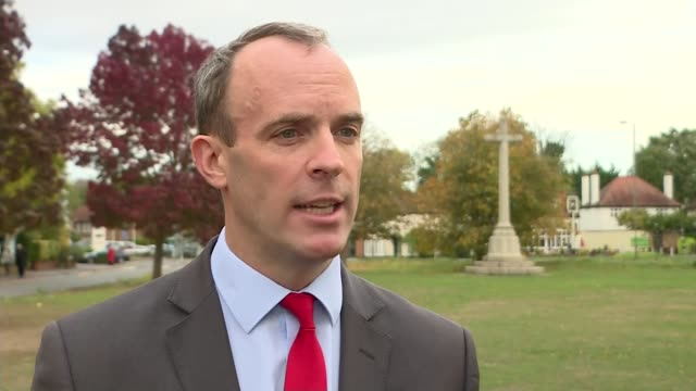 no deal brexit papers released by government; england: ext dominic raab mp interview sot. - in the event of no deal, not only can we retain the... - other stock videos & royalty-free footage