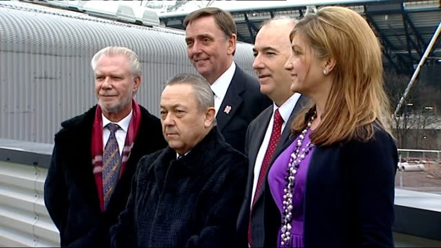 no deal yet for west ham united to move into the olympic stadium r11021108 west ham united joint chairmen david gold and david sullivan vicechairman... - カレン ブラディ点の映像素材/bロール
