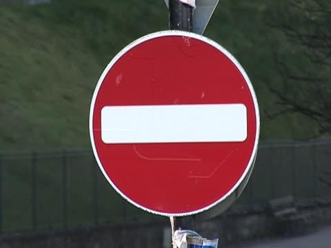 uk no entry roadsign - alertness stock videos and b-roll footage
