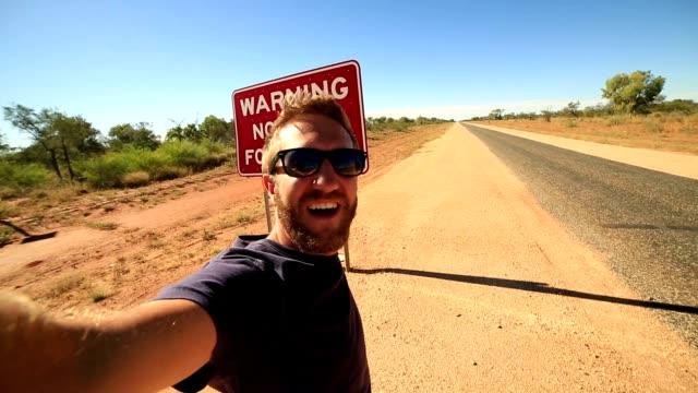 Geen brandstof waarschuwing teken selfie