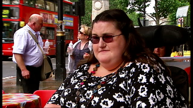 No Go Britain series highlights issue of suitable housing for disabled people ENGLAND London EXT HannahLou Blackall along at station with reporter...