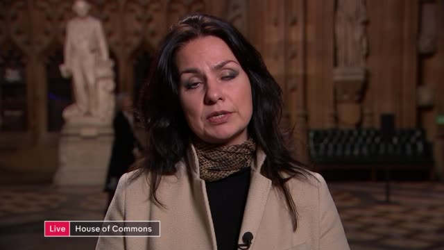 the disability employment gap england london gir int heidi allen mp in house of commons and richard shakespeare in studio live discussion sot - heidi allen stock videos & royalty-free footage