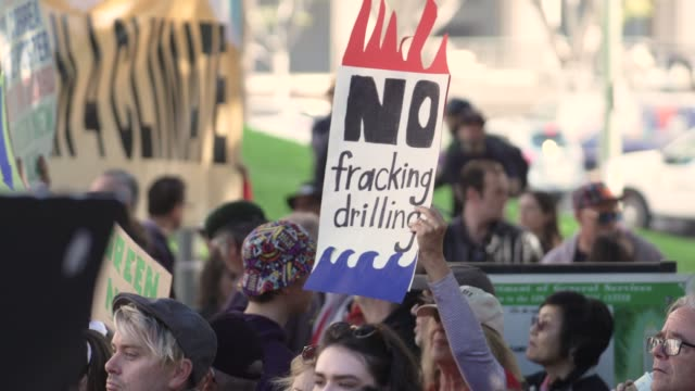 no more franking banner at jane fonda's fire drill friday at los angeles city hall on february 07 2020 in los angeles california - fire drill stock videos & royalty-free footage