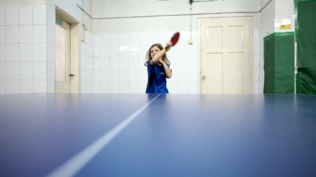 no one can beat this little girl - table tennis stock videos & royalty-free footage
