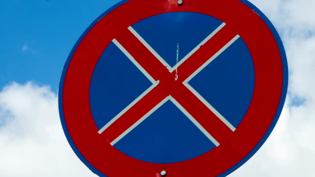 no parking sign time lapse - no parking sign stock videos & royalty-free footage