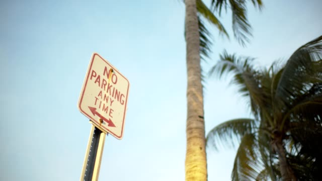 no parking - no parking sign stock videos & royalty-free footage
