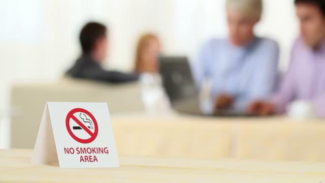 no smoking area - no smoking sign stock videos & royalty-free footage