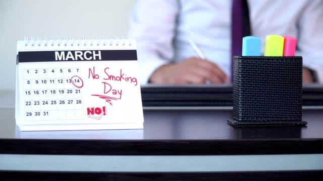 ない禁煙デー - 特別な日 - 禁煙マーク点の映像素材/bロール