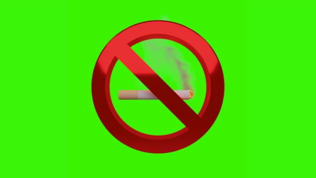 no smoking sign chroma key - no smoking sign stock videos & royalty-free footage