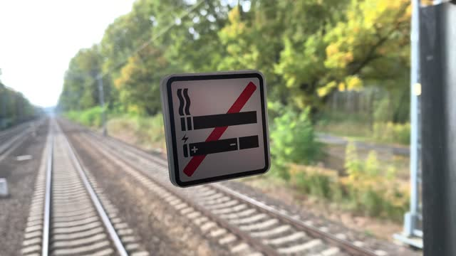 no smoking sign on train - no smoking sign stock videos & royalty-free footage