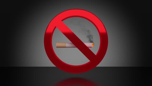 no smoking sign - no smoking sign stock videos & royalty-free footage
