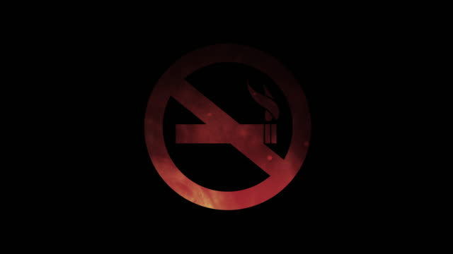 no smoking symbol on red hot smoke - tobacco product stock videos and b-roll footage
