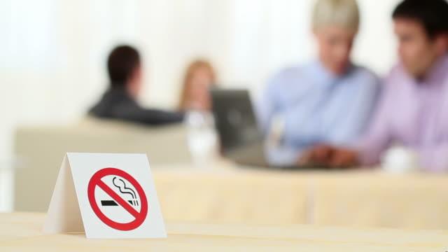 no smoking! - no smoking sign stock videos & royalty-free footage