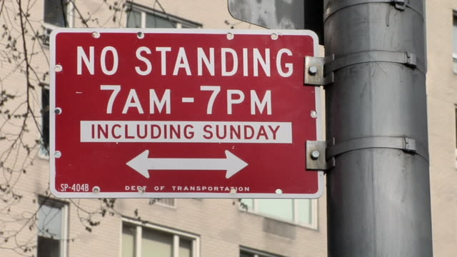 cu no standing sign / new york, united states - no parking sign stock videos & royalty-free footage