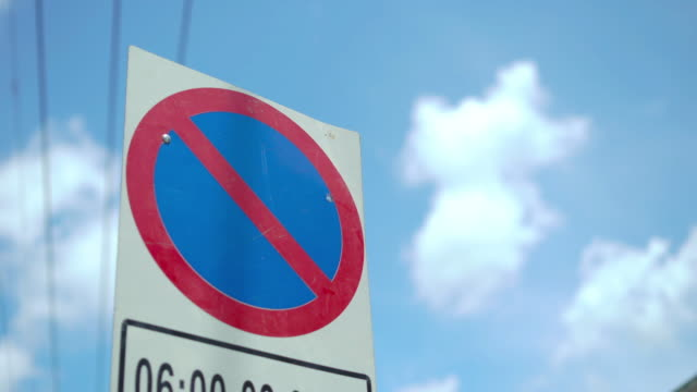 no stopping sign or no parking sign - no parking sign stock videos & royalty-free footage