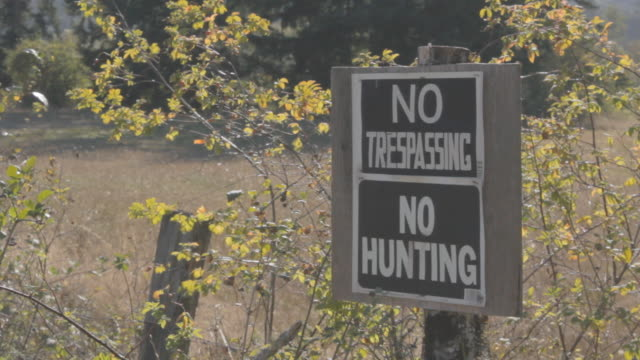 no trespassing and no hunting sign - no trespassing stock videos & royalty-free footage