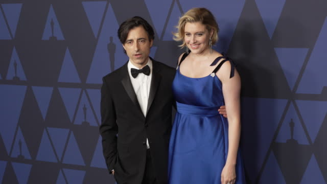 noah baumbach and greta gerwig at the 2019 governors awards on october 26 2019 in hollywood california - noah baumbach stock videos and b-roll footage