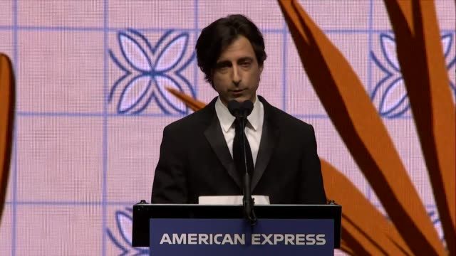 speech noah baumbach at 31st annual palm springs international film festival film awards gala at palm springs convention center on january 02 2020 in... - noah baumbach stock videos and b-roll footage