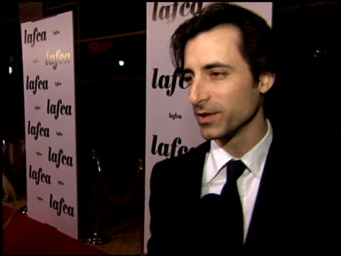 noah baumbach at the 2006 lafca los angeles film critic's association awards at park hyatt in century city, california on january 17, 2006. - critic stock videos & royalty-free footage
