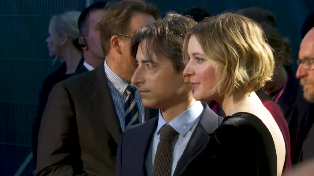 noah baumbach greta gerwig at 'marriage story' european premiere 63rd bfi london film festival at odeon luxe leicester square on october 06 2019 in... - noah baumbach stock videos and b-roll footage