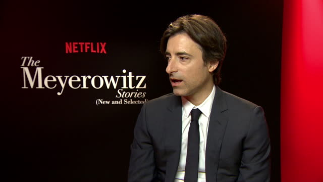 interview noah baumbach on adam sandler and ben stiller at 'the meyerowitz stories' interviewson may 22 2017 in cannes france - noah baumbach stock videos and b-roll footage