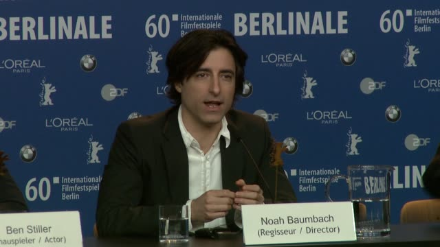 noah baumbach on how music influenced him heavily when writing the script for greenberg so much so that he got the lead singer from band lcd... - noah baumbach stock videos and b-roll footage