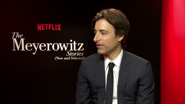 interview noah baumbach on the relationship between parents and childern the themes of the story at 'the meyerowitz stories' interviews on may 22... - noah baumbach stock videos and b-roll footage