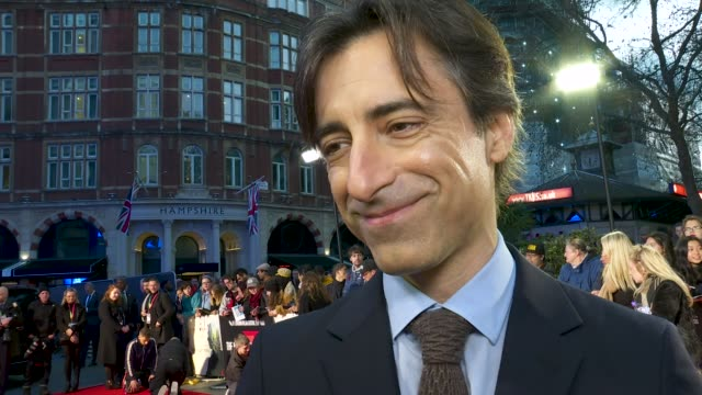 interview noah baumbach on why he wanted to tell a story about divorce at 'marriage story' european premiere 63rd bfi london film festival at odeon... - noah baumbach stock videos and b-roll footage