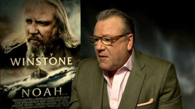 jennifer connelly ray winstone douglas booth and logan lerman ray winstone interview sot - ray winstone stock videos & royalty-free footage