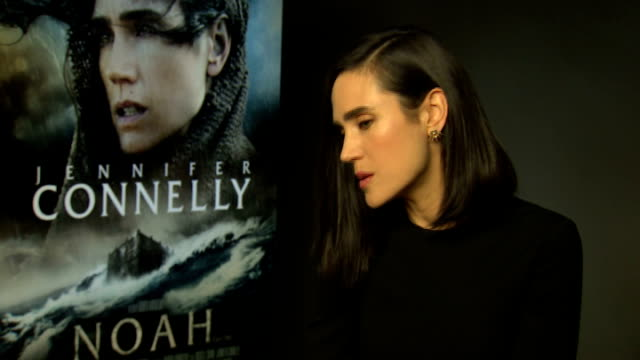 jennifer connelly ray winstone douglas booth and logan lerman england london int jennifer connelly interview sot - ray winstone stock videos & royalty-free footage