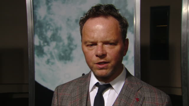 """interview noah hawley on the production and cast at the """"lucy in the sky"""" los angeles premiere presented by fox searchlight pictures in los angeles ca - fox searchlight pictures stock videos & royalty-free footage"""