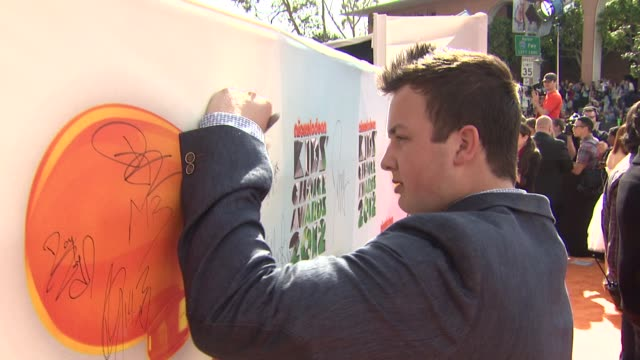 Noah Munck at Nickelodeon's 25th Annual Kids' Choice Awards on 3/31/2012 in Los Angeles CA