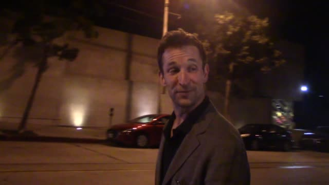 interview noah wyle gives an update on george clooney after his scooter accident outside craig's in west hollywood in celebrity sightings in los... - noah wyle stock videos and b-roll footage