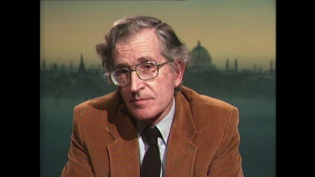 noam chomsky saying 'england has now become one of the major military suppliers to ensure that aggression can continue' - philosopher stock videos & royalty-free footage