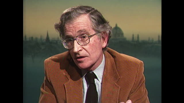 noam chomsky saying 'the united nations overwhelmingly has preferred the option of sanctions and diplomacy' in contrast to the uk and us military... - iraq stock videos & royalty-free footage