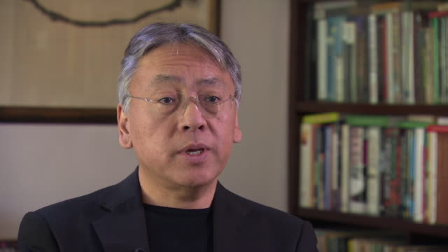 Nobel Laureate Kazuo Ishiguro saying he 'saw British society through Japanese eyes'