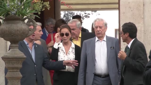 nobel literature laureate mario vargas llosa celebrates his 81st birthday tuesday with girlfriend isabel preysler in his native city of arequipa, in... - literature stock videos & royalty-free footage