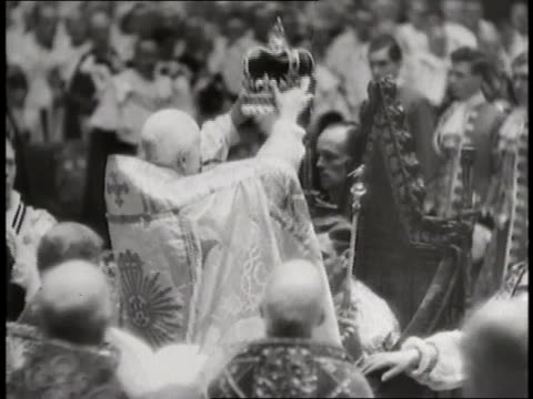 nobles celebrate the coronation of king george vi - george vi of the united kingdom stock videos & royalty-free footage