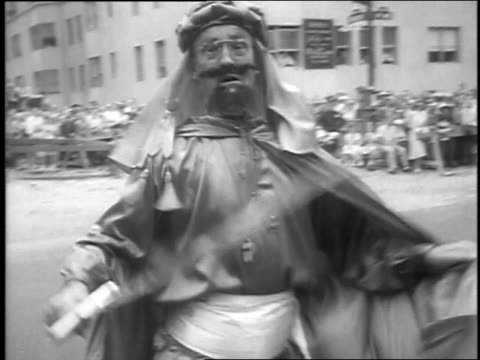 1951 montage nobles parade in new york city / new york city, new york, united states - in front of stock videos & royalty-free footage